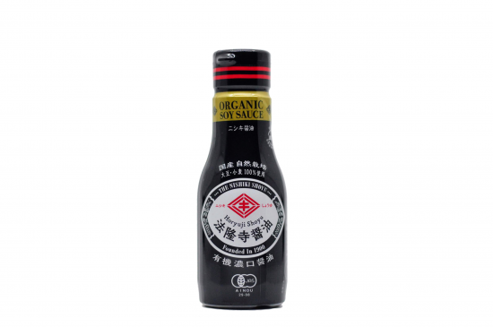 シンプルが、美味しい。 【有機JAS本醸造JAS特級濃口】 法隆寺醤油 200ml新鮮ボトル入
