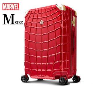 マーベル【MARVEL】スパイダーマン【SPIDERMAN】DESENO  スーツケース ジッパー 赤  Mサイズ