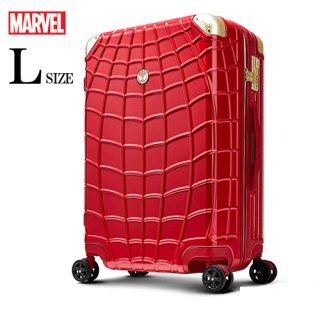 マーベル【MARVEL】スパイダーマン【SPIDERMAN】DESENO  スーツケース ジッパー 赤  Lサイズ