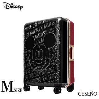 ディズニー【DISNEY】 ミッキー【MICKEY】 DESENO スーツケース アルミフレーム Mサイズ 赤黒