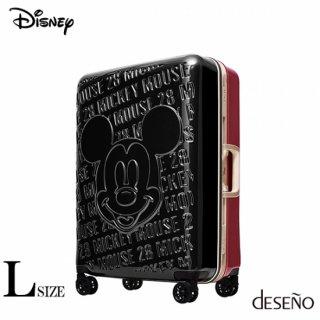 ディズニー【DISNEY】 ミッキー【MICKEY】DESENO  スーツケース アルミフレーム Lサイズ 赤黒