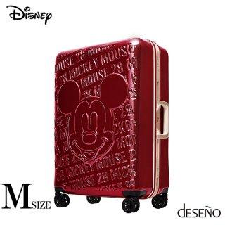 ディズニー【DISNEY】 ミッキー【MICKEY】DESENO スーツケース アルミフレーム Mサイズ 赤