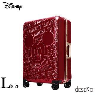 ディズニー【DISNEY】 ミッキー【MICKEY】DESENO  スーツケース アルミフレーム Lサイズ 赤