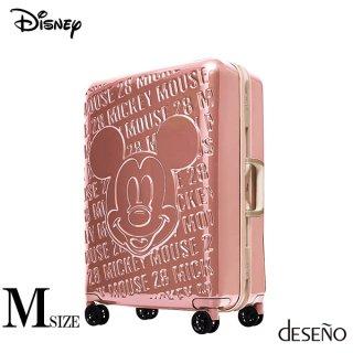 ディズニー【DISNEY】 ミッキー【MICKEY】 DESENO スーツケース アルミフレーム Mサイズ ピンク