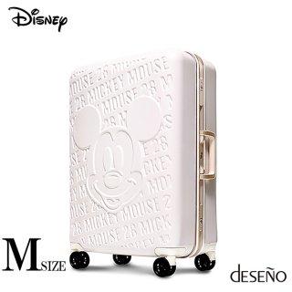 ディズニー【DISNEY】 ミッキー【MICKEY】 DESENO スーツケース アルミフレーム Mサイズ 白