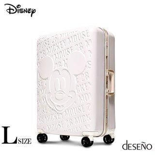 ディズニー【DISNEY】 ミッキー【MICKEY】DESENO  スーツケース アルミフレーム Lサイズ 白