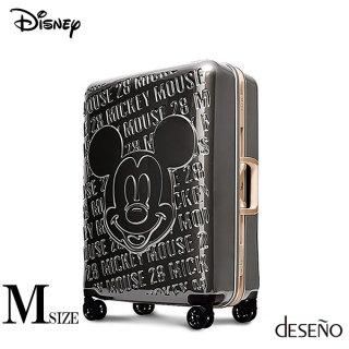 ディズニー【DISNEY】 ミッキー【MICKEY】DESENO スーツケース アルミフレーム Mサイズ グレー