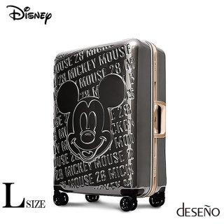 ディズニー【DISNEY】 ミッキー【MICKEY】DESENO  スーツケース アルミフレーム Lサイズ グレー