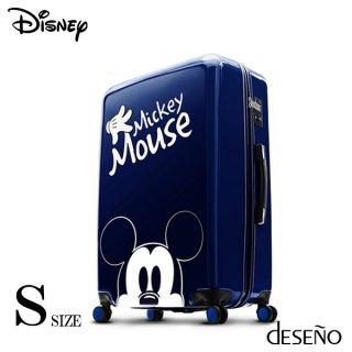 ディズニー【DISNEY】 ミッキー【MICKEY】DESENO スーツケース ジッパー Sサイズ 青