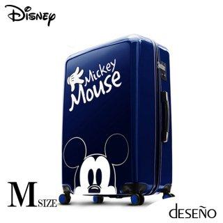 ディズニー【DISNEY】 ミッキー【MICKEY】DESENO  スーツケース ジッパー Mサイズ 青
