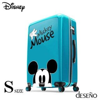 ディズニー【DISNEY】 ミッキー【MICKEY】 DESENO スーツケース ジッパー Sサイズ レイクブルー