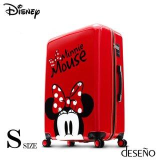 ディズニー【DISNEY】 ミニー【MINNIE】 スーツケース ジッパー DESENO  Sサイズ 赤