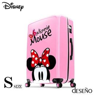 ディズニー【DISNEY】 ミニー【MINNIE】 DESENO スーツケース ジッパー Sサイズ ピンク