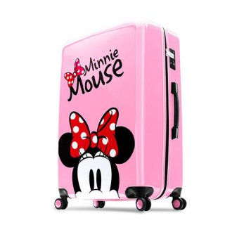 ディズニー【DISNEY】 ミニー【MINNIE】DESENO スーツケース ジッパー Lサイズ ピンク