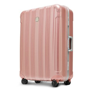 DESENO CUBE スーツケース アルミフレーム Lサイズ ピンク