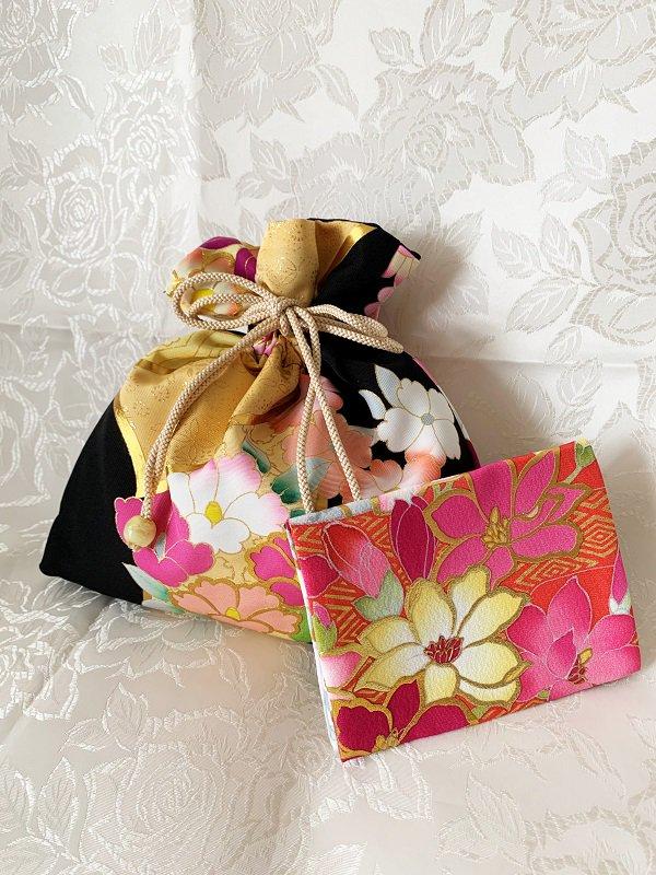 ♥母の日のプレゼントに♥ Aセット(巾着とティッシュ入れのセットです)