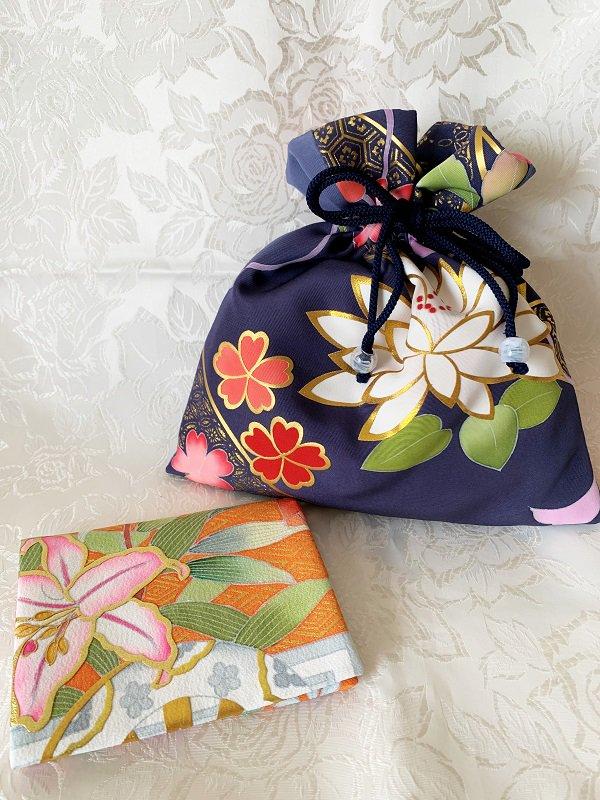 ♥母の日のプレゼントに♥ Bセット(巾着とティッシュ入れのセットです)