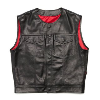 415 Leather Club Style Snap Vest (No Collar)<img class='new_mark_img2' src='https://img.shop-pro.jp/img/new/icons14.gif' style='border:none;display:inline;margin:0px;padding:0px;width:auto;' />