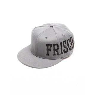 Large Frisco Flat Bill(Dark Grey with Black Letter)