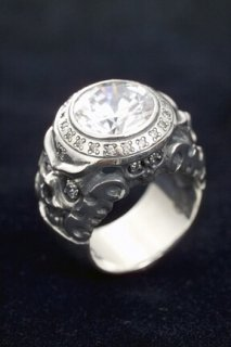 MONK STONE RING / CLEAR CZ