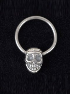 DOUBLE FACE TIBETAN SKULL EARRING