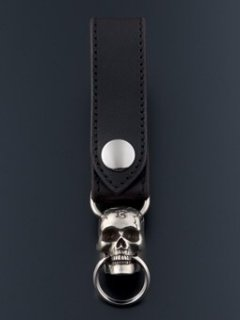 MOVABLEJAW SKULL KEY RING / ANTIQUE SILVER
