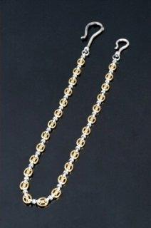 PIRATES LINK WALLET CHAIN / SILVER×BRASS