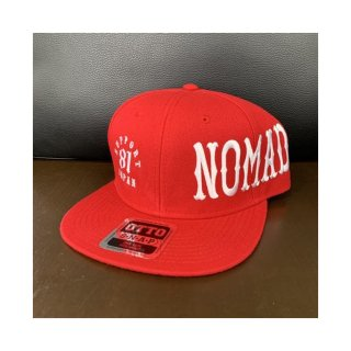 SUPPORT 81 NOMADS JAPAN Snap back hat (Font)_Red