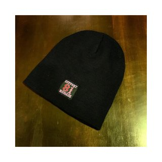 SUPPORT 81 TAG BEANIE Black