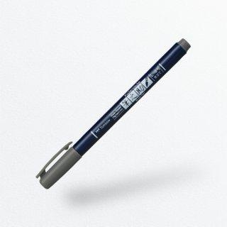 筆文字サインペン 筆之助 しっかり仕立て グレー