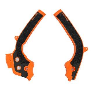 ACERBIS X-GRIP フレームプロテクター オレンジブラック / SX125/150(16-18), SX250(17-18), SX-F(16-18), EXC/EXC-F(17-19) 用
