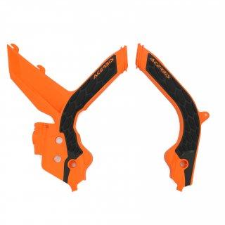 ACERBIS X-GRIP フレームプロテクター オレンジブラック/SX150(19), SX125/250, SX-F250/350/450, XC250TPI/300TPI, XC-F 用