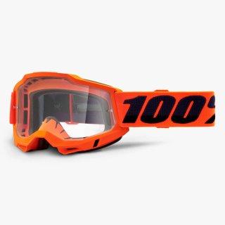 100% ACCURI2ゴーグル ネオンオレンジ