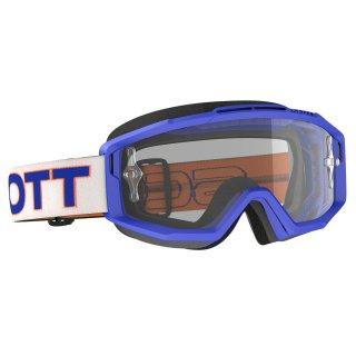 SCOTT スプリットOTGゴーグル(眼鏡用) ホワイトブルー/クリアレンズ