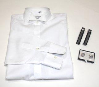 【レンタル】ワイシャツセット(立ち襟ワイシャツ・カフス・アームバンド)