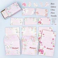 淡いピンクのミニ封筒&メッセージカード