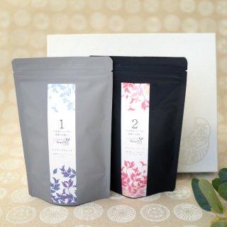 八女美茶 2種詰合せ 箱入<br>エイジングブレンド<br>プリンセスブレンド<br>ティーバッグ (2g×18個)2袋