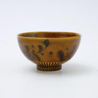 オリーブリーフ・キャメル しのぎ飯碗(大・小)