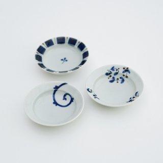 リム楕円豆皿(3柄)