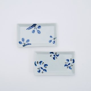 長角小皿(2柄)