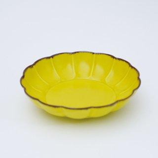 渕さびミモザ 菊割平鉢