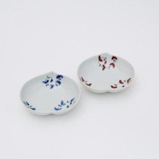 さび唐草リーフ 桃小鉢(2色)