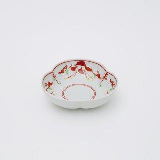 赤絵万暦 三つ葉小鉢