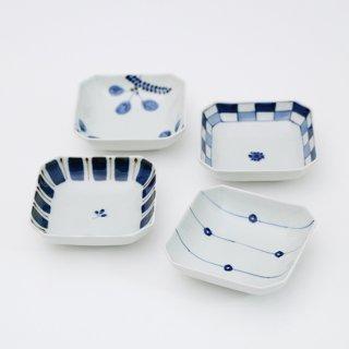隅切り小鉢(4柄)