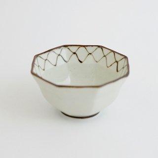 網絵 リム八角深小鉢