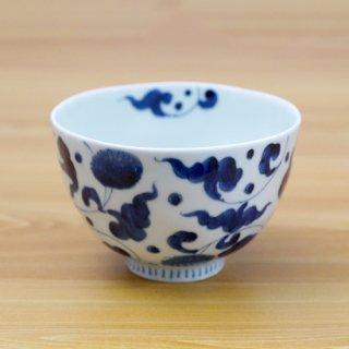 染付菊唐草麺鉢(大)