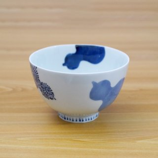 染付三方瓢絵麺鉢(小)