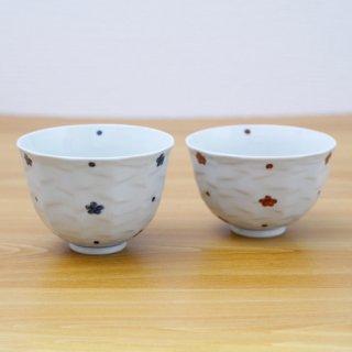 小花紋面取麺鉢