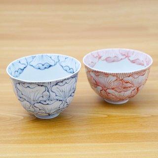 花弁紋面取麺鉢
