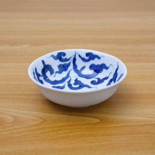 染付草紋四寸小鉢